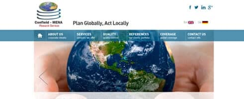 Confield - MENA: Research Services. Plan Globally, Act Locally